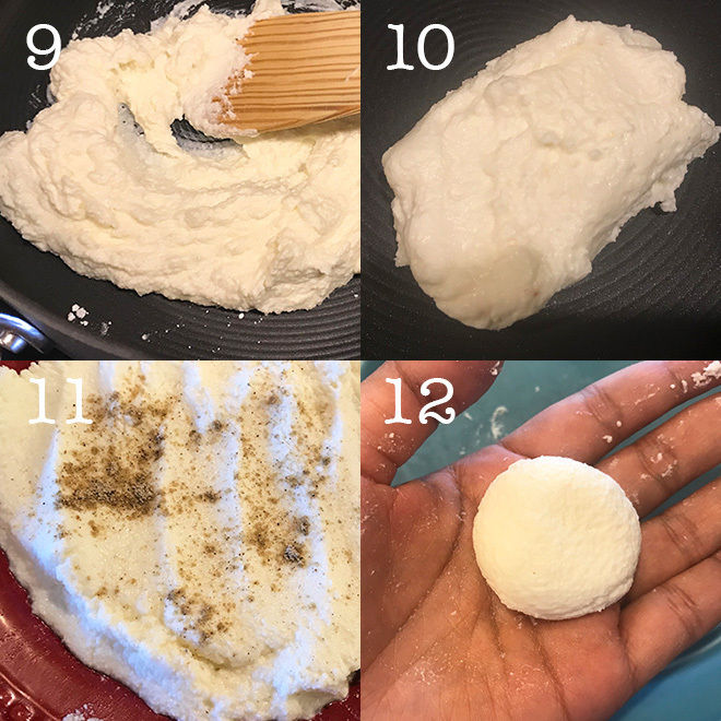 step by step pictures of making bengalo sweet sandesh at home