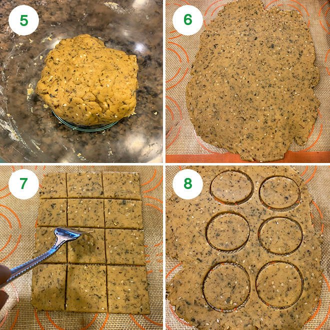 step by step pictures of making baked methi mathri