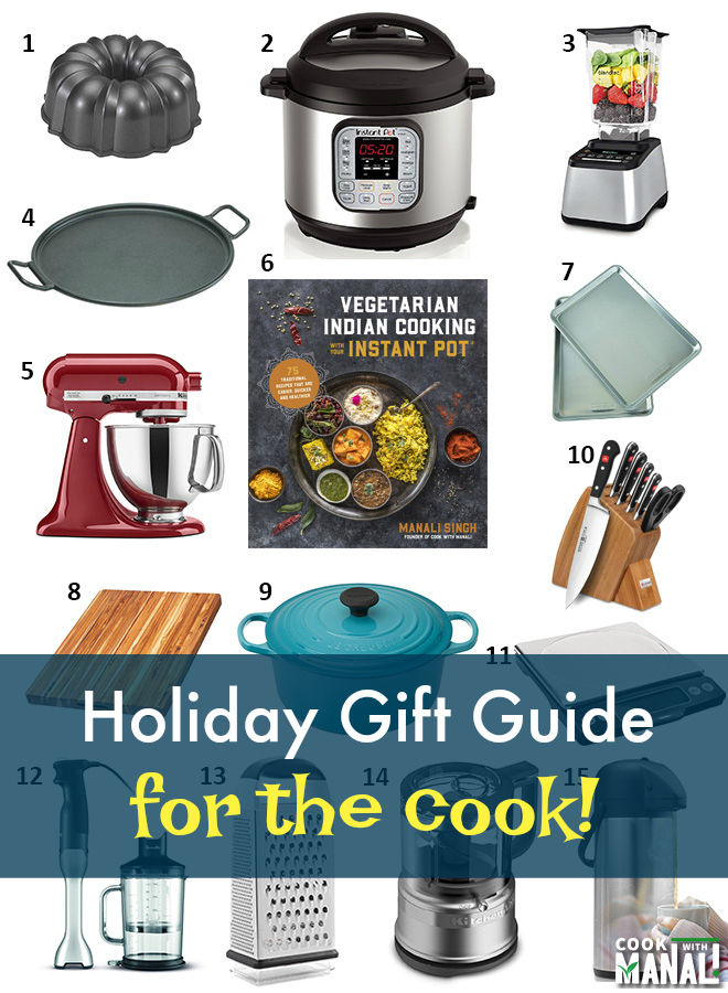 Holiday Gift Guide for the cook in your life! Favorite kitchen gadgets and appliances which makes cooking fun and much easier! #holidays #giftguide