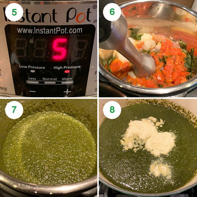sarson ka saag recipe step by step picture collage