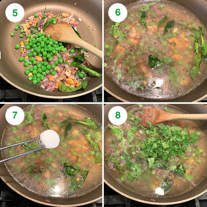 step by step pictures of making sooji-rava upma
