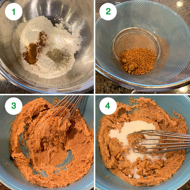 step by step picture collage of making whole wheat jaggery cookies
