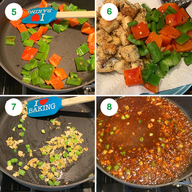 step by step pictures to make honey cashew tofu