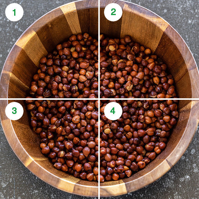 black chickpeas in a wooden bowl