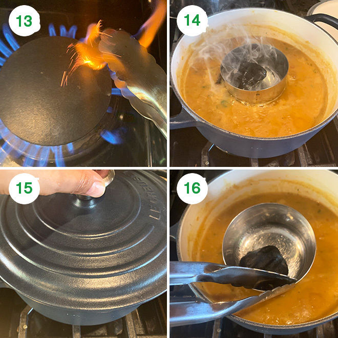 step by step picture collage of making dal fry