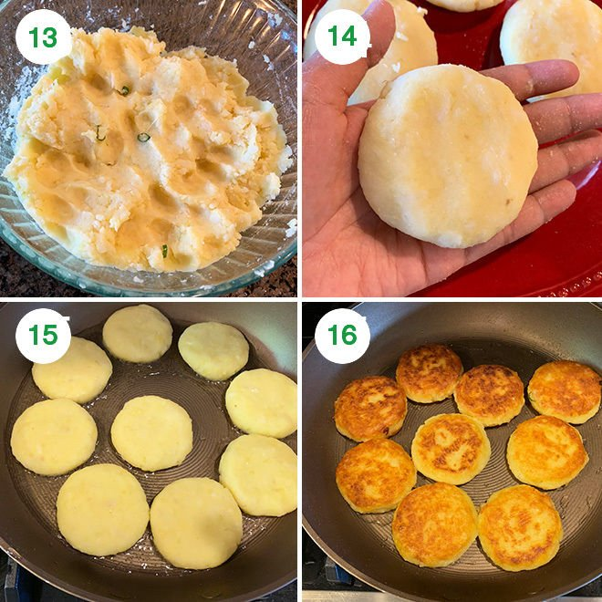 step by step pictures of making ragda patties