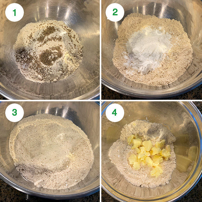 step by step pictures of making ajwain cookies