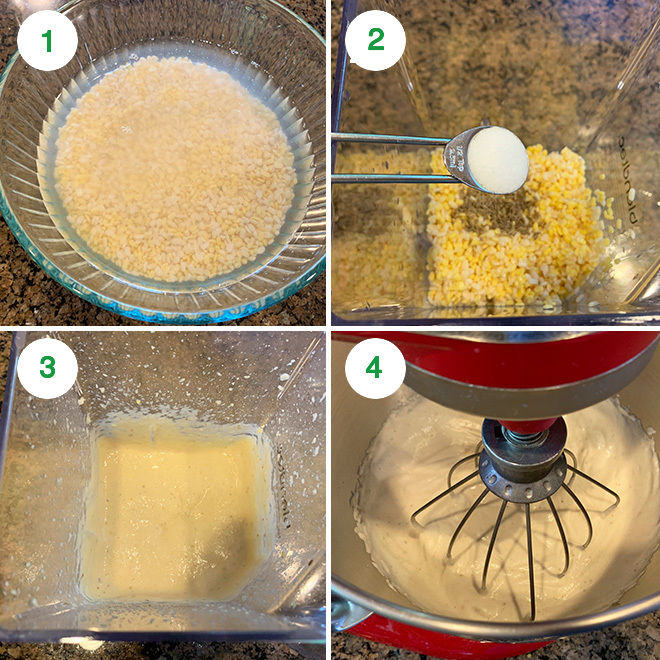 step by step picture collage of making dahi bhalla