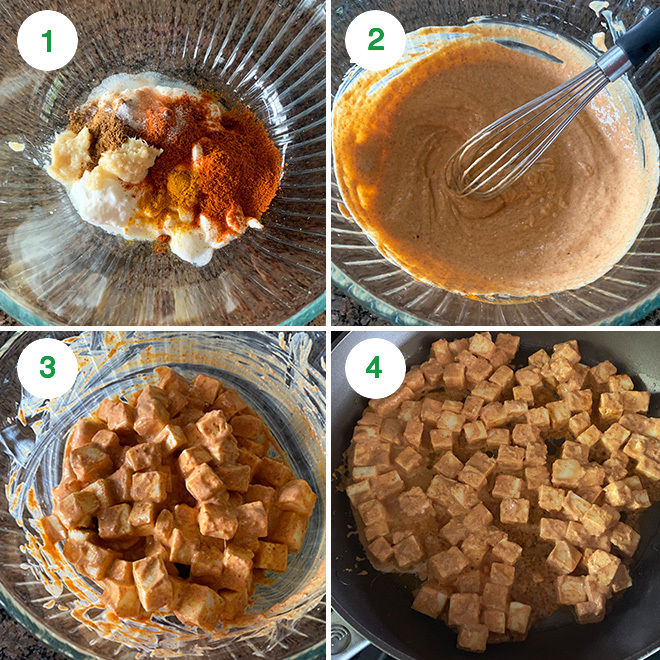 step by step picture collage of making paneer nachos
