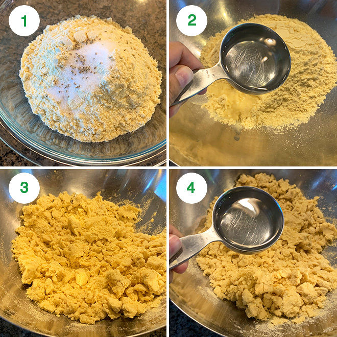 step by step picture collage of making makki ki roti