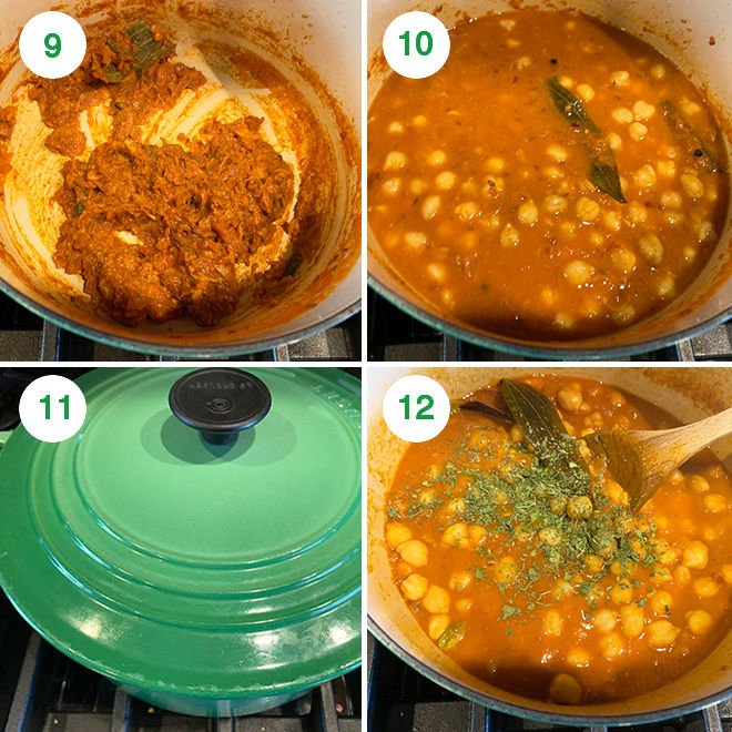 step by step picture collage of making chana masala at home