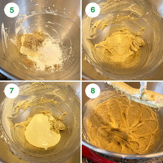 step by step picture collage of making white chocolate thandai mousse