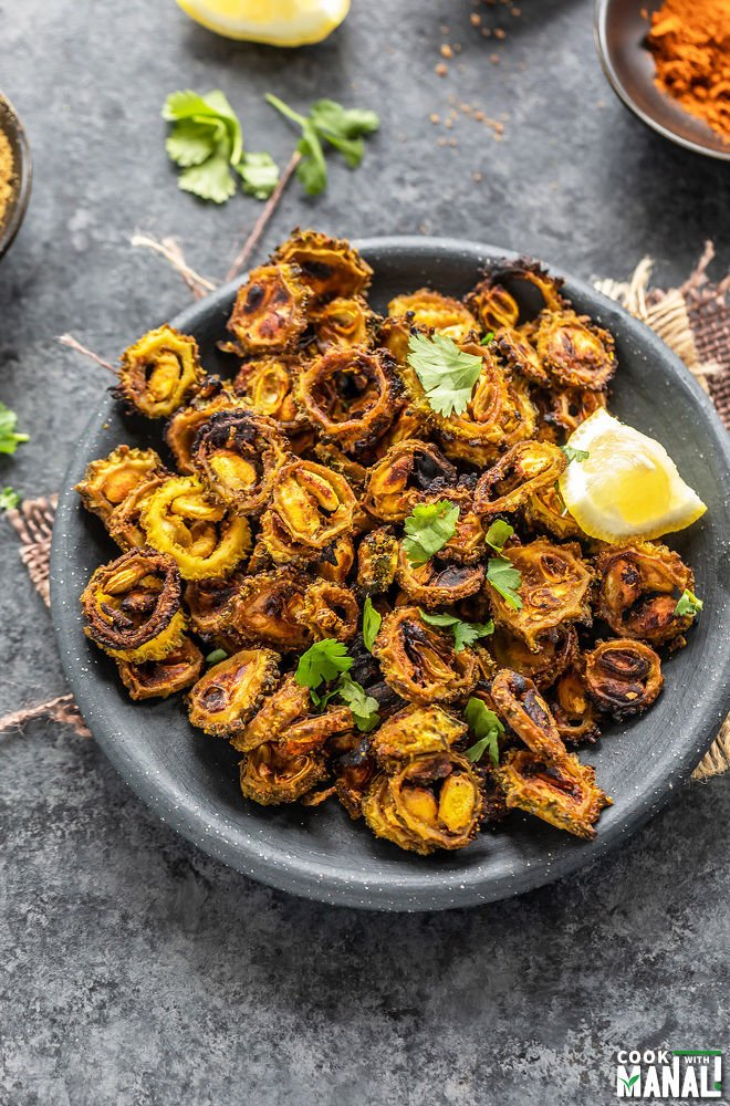 Baked Sweet Sour Karela Bitter Gourd Cook With Manali