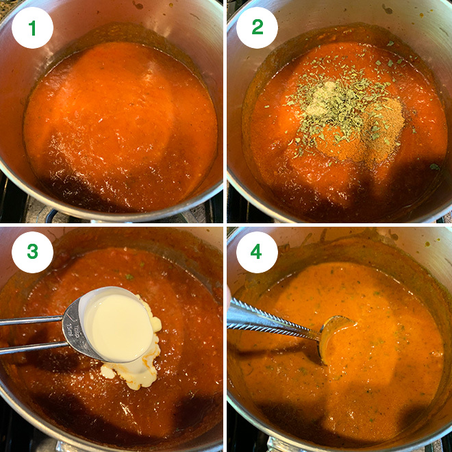 step by step picture collage of making paneer lasagna