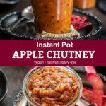 Pinterest graphic for apple chutney