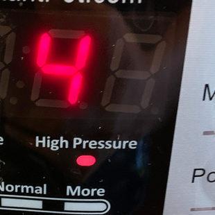 instant pot timer displaying number 4
