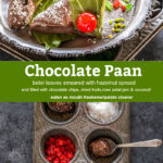 pinterest graphic for chocolate paan