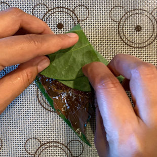 paan leaf being folded