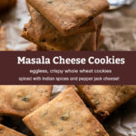 pinterest graphic for masala cheese cookies