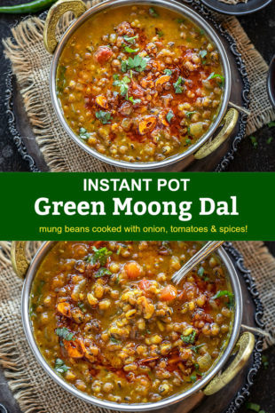 Pinterest image for green moong dal