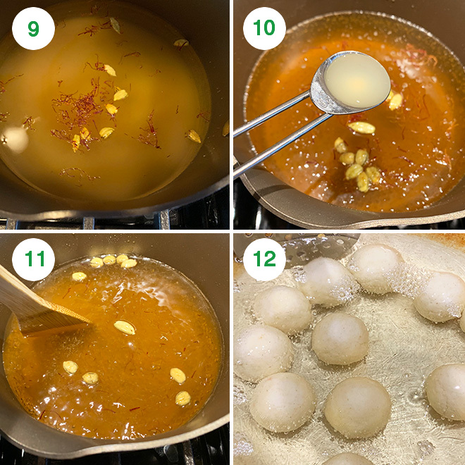 step by step picture collage of making kala jamun