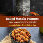 pinterest graphic for baked masala peanuts