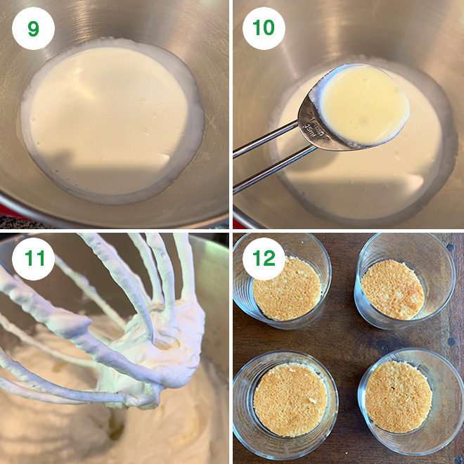 step by step picture collage of making rasmalai cake jars
