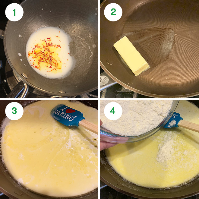 step by step picture collage of making tutti frutti burfi rolls