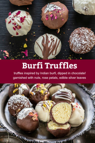 pinterest graphic for burfi truffles