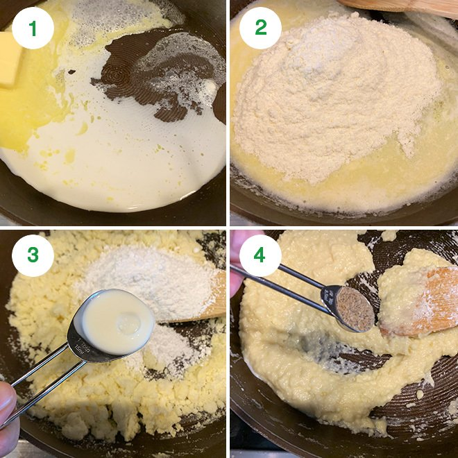 step by step picture collage of making burfi truffles