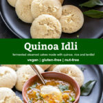 pinterest graphic for quinoa idli