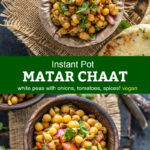 pinterest graphic for matar chaat