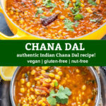 pinterest graphic for chana dal