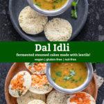 pinterest graphic for Dal Idli