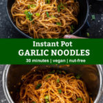 pinterest graphic for garlic noodles