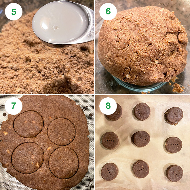 step by step picture of making ragi cookies