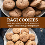 pinterest graphic for ragi cookies