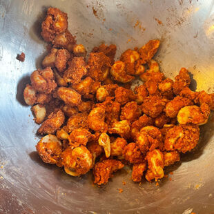 cashews coated with spicy masala