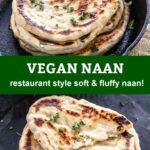 pinterest graphic for vegan naan