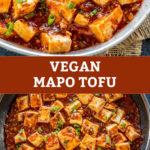 pinterest graphic for vegan mapo tofu