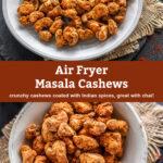 pinterest graphic for masala cashews