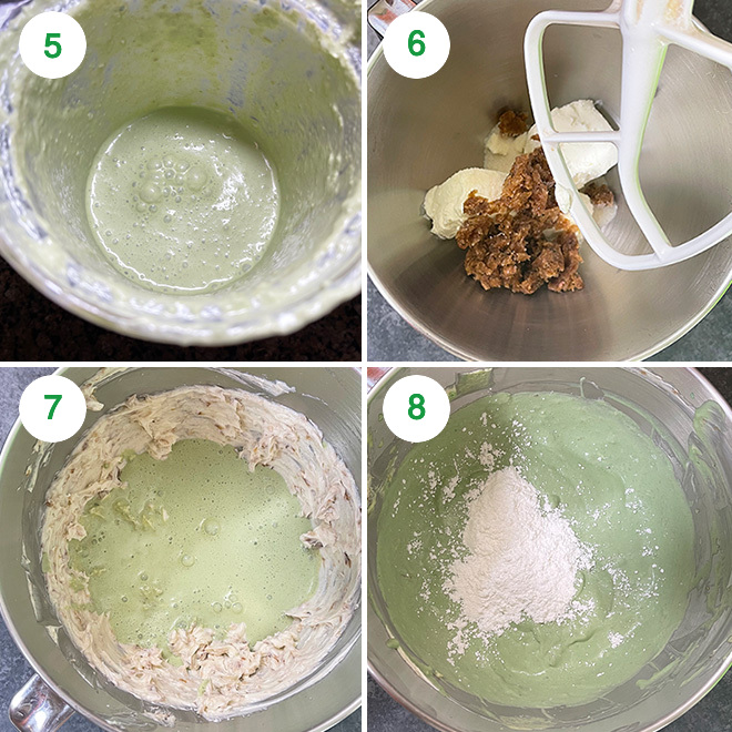 step by step picture collage of making paan cheesecake