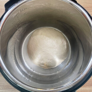 dough placed in steel bowl