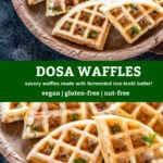 pinterest graphic for dosa waffle