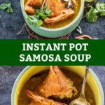 pinterest graphic for samosa soup